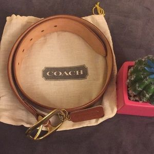 Authentic Coach Sienna Brown Ladies Belt Small